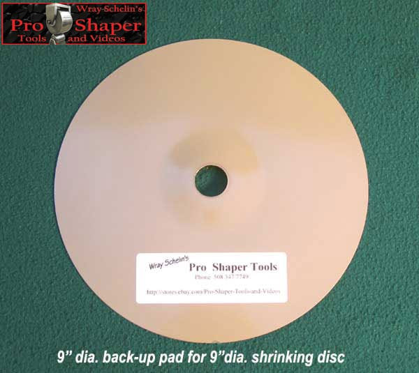 Shrinking Disc Backing Pad top